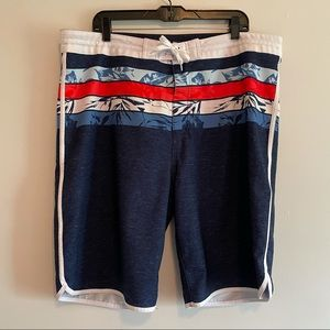 Old Navy board shorts red blue